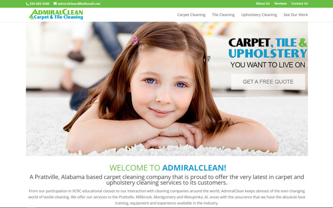 Admiral Clean Website Design Prattville, Millbrook, Montgomery, and Wetupmka, AL