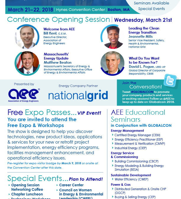 Globalcon Boston, MA Expo Marketing and Flyer Design for AEE Atlanta, GA